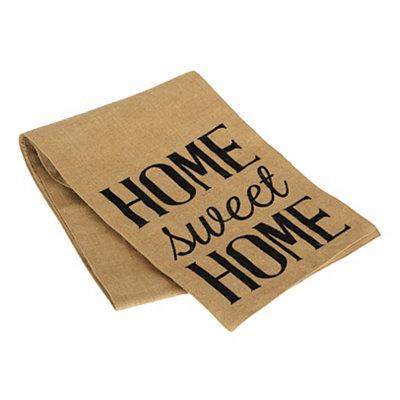 Home Sweet Home Burlap Table Runner