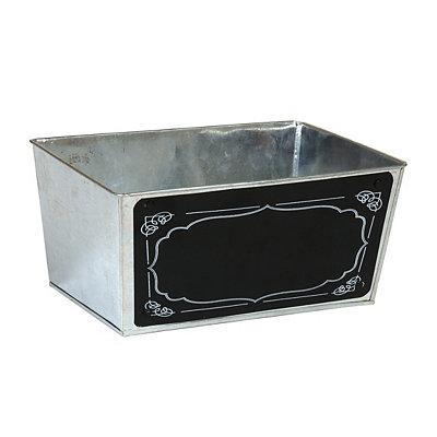 Galvanized Metal Chalkboard Bin