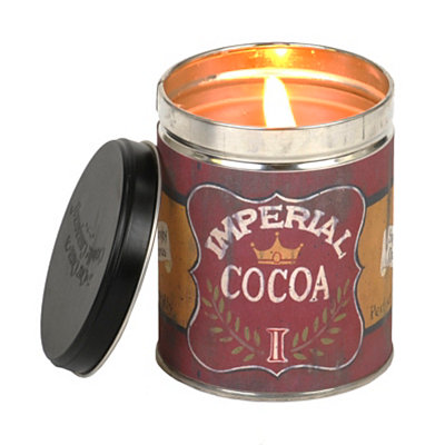 Imperial Cocoa Hot Chocolate Tin Jar Candle