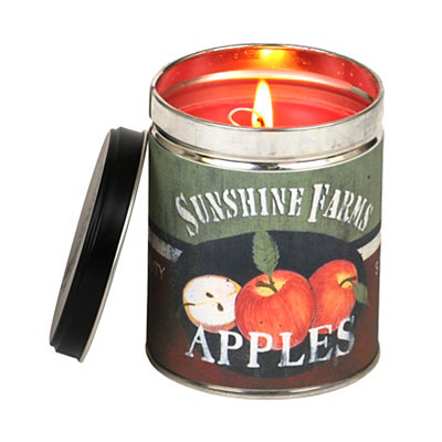 Sunshine Farms Apple Tin Jar Candle
