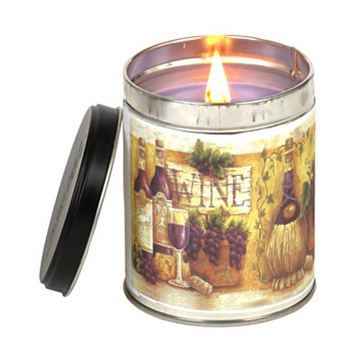 Tuscan Vineyard Wine Tin Jar Candle