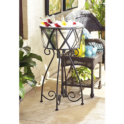 Oasis Galvanized Beverage Tub with Stand