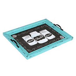 Distressed Turquoise Home Decorative Tray