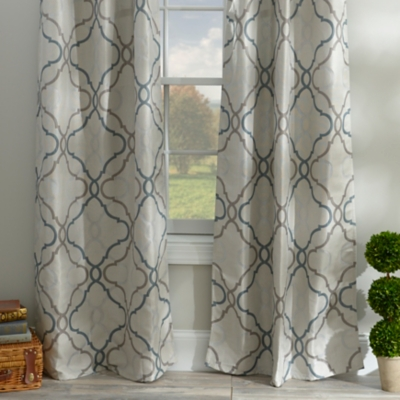 Grand Manor Gray Curtain Panel Set, 108 in.