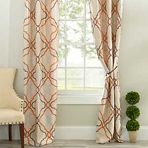Grand Manor Spice Curtain Panel Set, 108 in.