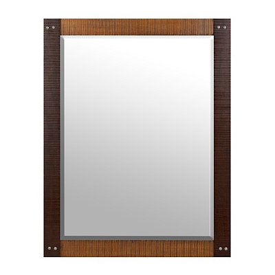 Two-Tone Chiseled Pine Framed Mirror, 36x46