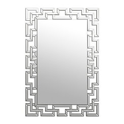 Gemma Lattice Framed Mirror, 31.5x47.5 in.