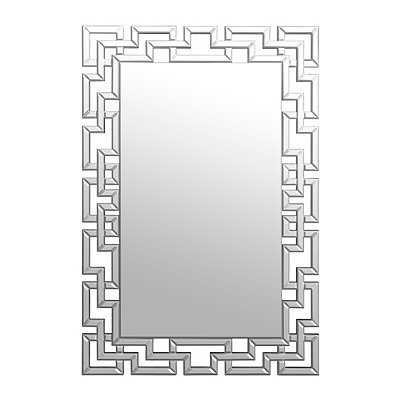 Gemma Lattice Framed Mirror, 32x48 in.