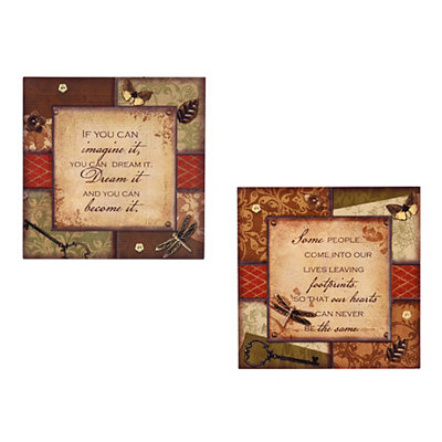 Sentimental Scrapbook Wooden Plaques