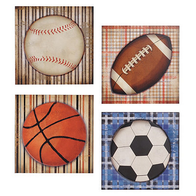 Vintage Sports Wooden Plaques