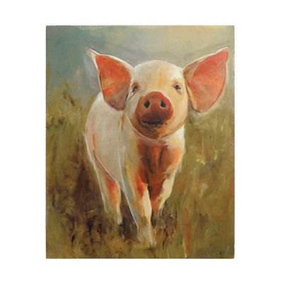 Good Morning Pig Wooden Plaque