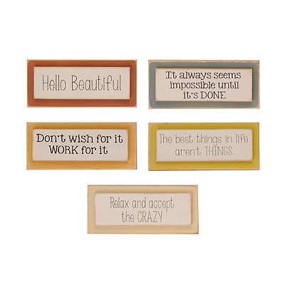 Colorful Inspirational Word Blocks