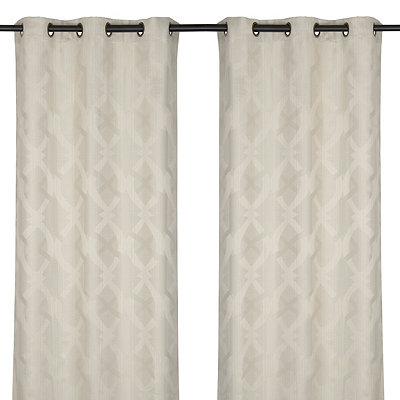 Wheat Picasso Curtain Panel Set, 84 in.
