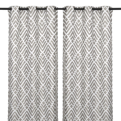 Savoy Black Pearl Curtain Panel Set, 84 in.