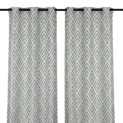 Savoy Marine Curtain Panel Set, 84 in.