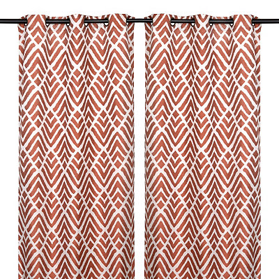 Savoy Spice Curtain Panel Set, 84 in.