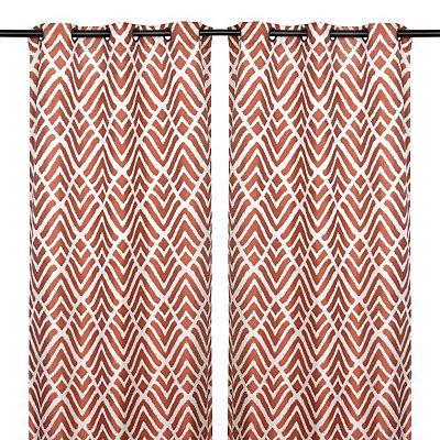 Savoy Spice Curtain Panel Set, 84 in.