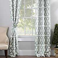 Aquifier Blue Teemu Curtain Panel Set