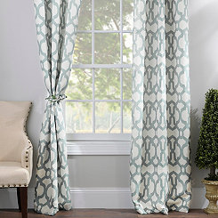 Aquifier Blue Teemu Curtain Panel Set, 84 in.