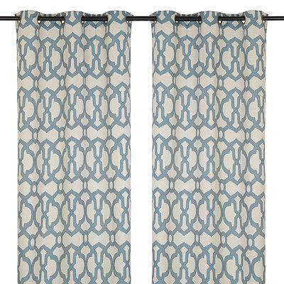 Dark Teal Teemu Curtain Panel Set, 84 in.