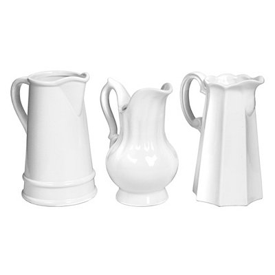 White Ceramic Pitchers