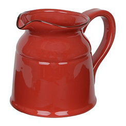 Turino Red Ceramic Pitcher, 90 oz.