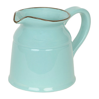 Turino Turquoise Ceramic Pitcher, 90 oz.