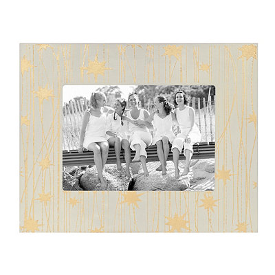 Ivory And Gold Star Picture Frame, 5x7