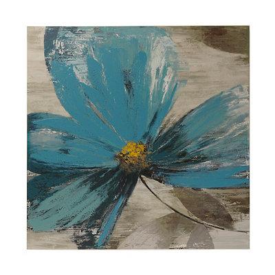 Blue Floral II Canvas Art Print