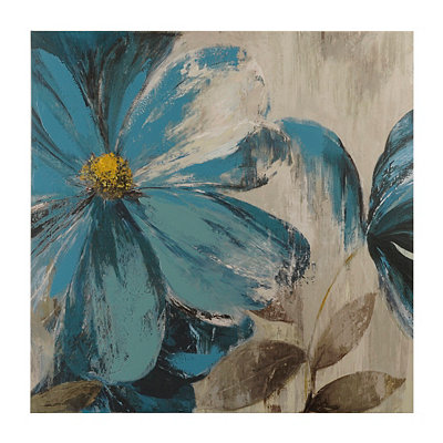 Blue Floral I Canvas Art Print