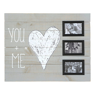 You and Me Wood Plank Collage Frame
