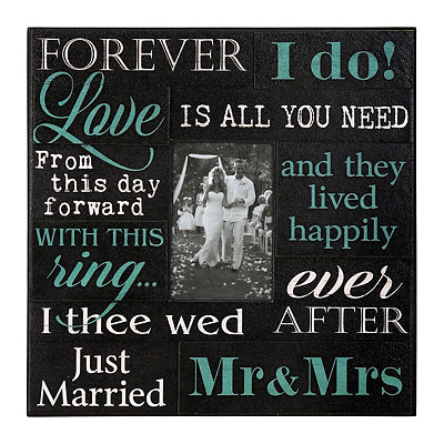 Wedding Sentiment Wood Plank Picture Frame, 4x6