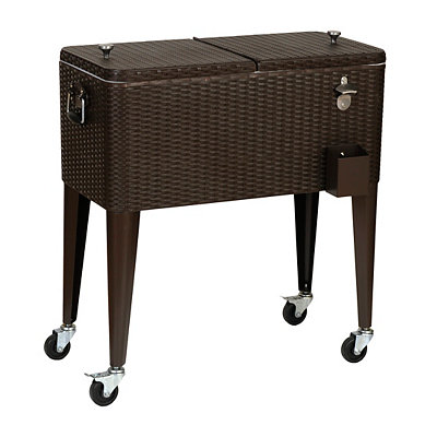 Woven Wicker 80-qt. Patio Cooler