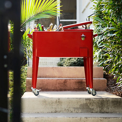Retro Red 80-qt. Patio Cooler