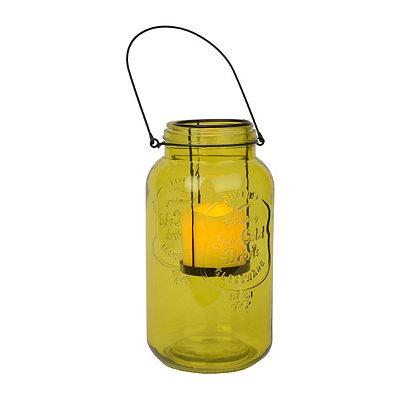 Green Mason Jar LED Lantern