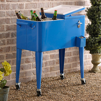 Retro Blue 80-qt. Patio Cooler