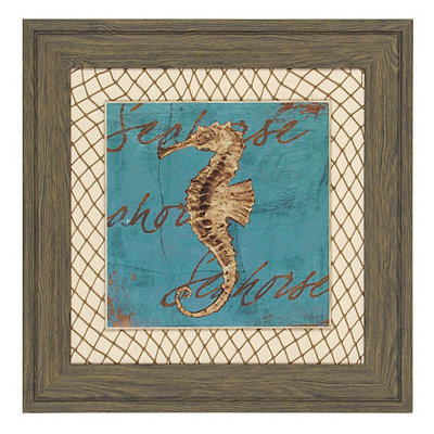 Turquoise Seahorse Framed Art Print