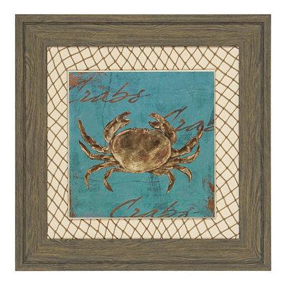 Turquoise Crab Framed Art Print