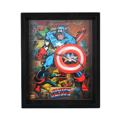 Holographic Captain America Shadowbox