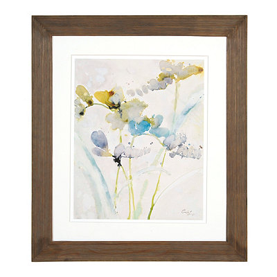 Blue Floral Watercolor I Framed Art Print