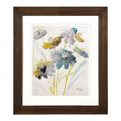Blue Floral Watercolor II Framed Art Print