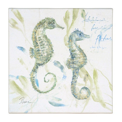 Seahorses at Play I Canvas Art Print