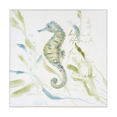 Seahorses at Play II Canvas Art Print