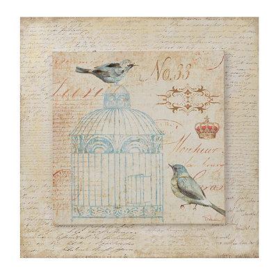 Vintage Birdcage I Canvas Art Print