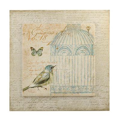 Vintage Birdcage II Canvas Art Print