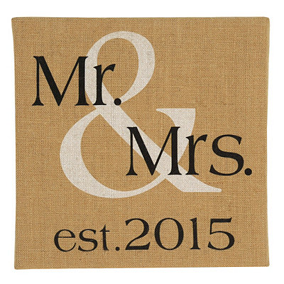 Mr. & Mrs. Burlap Canvas