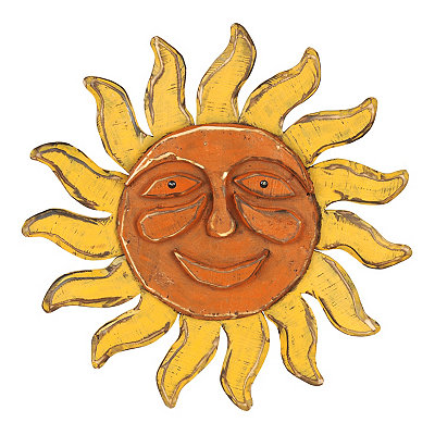 Retro Sun Wooden Plaque