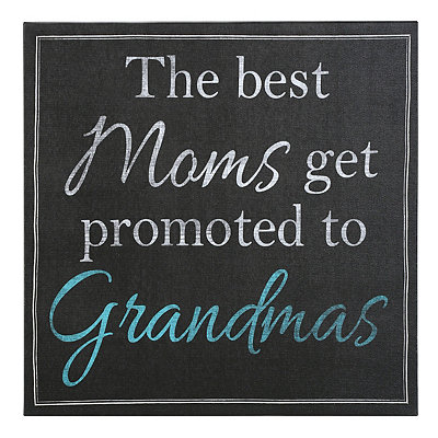 Promoted to Grandma Canvas Plaque