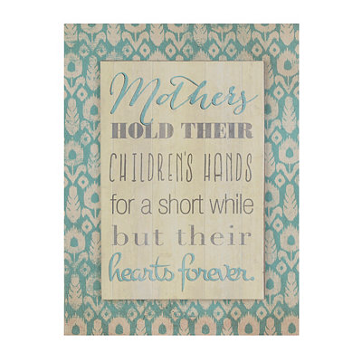 Mothers and Children Canvas Plaque