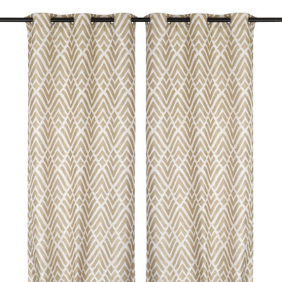 Savoy Taupe Curtain Panel Set, 84 in.